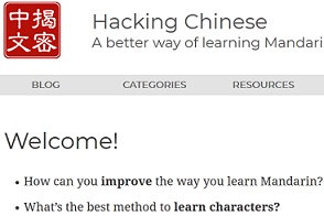 Online Resources for learning Chinese